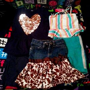 Lot of girls clothes.